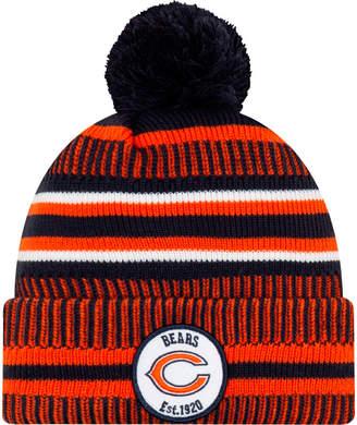 New Era Chicago Bears NFL Home Striped Sideline Beanie Hat