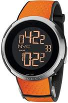 Gucci Men's I YA114104 Orange Rubber Swiss Quartz Watch with Digital Dial
