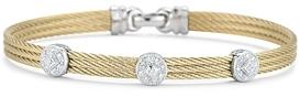 Alor Diamond Yellow Cable Bangle