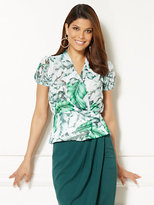 New York & Co. Eva Mendes Collection - Charlotte Blouse - Palm Print