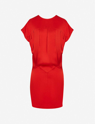 Reiss Tara draped crepe mini dress