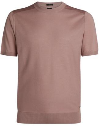 HUGO BOSS Silk Short-Sleeved Sweater