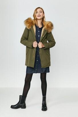 Coast Hooded Faux Fur Trim Parka Coat