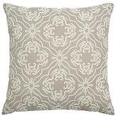 Veratex Valenti Medallion Faux-Linen Square Pillow