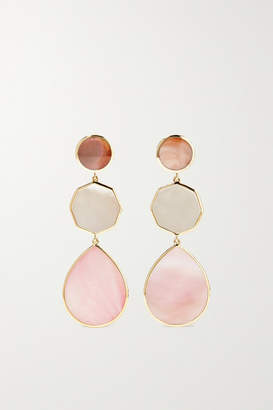 Ippolita Polished Rock Candy 18-karat Green Gold, Mother-of-pearl And Shell Earrings - one size