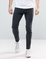 Diesel Stickker Super Skinny Jean 0677h Dark Grey Wash