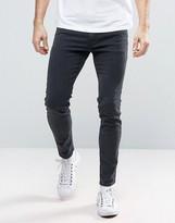 Diesel Stickker Super Skinny Jeans 0677h Dark Grey Wash