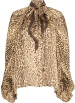 Zimmermann pussy-bow animal print blouse