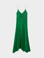 DKNY V-Neck Pieced Dress With Front Slit