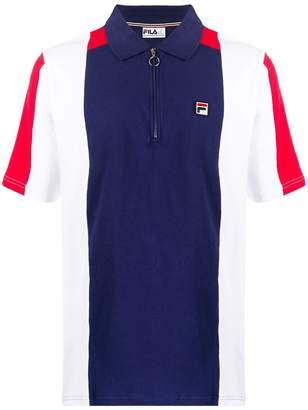 Fila colour-block polo shirt