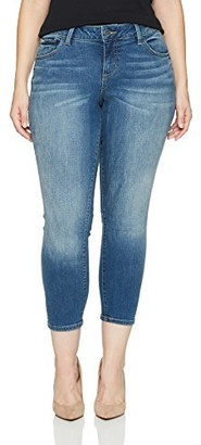 SLINK Jeans Women's Plus Size Naimah Ankle Skinny 14w