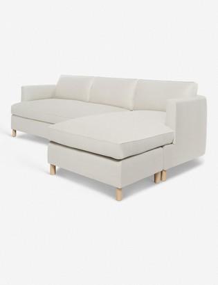 Lulu & Georgia Belmont Linen Right-Facing Sectional Sofa, Natural By Ginny Macdonald
