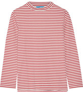 MiH Jeans Emelie Striped Cotton-jersey Top - Red