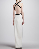 Michael Kors Two-Tone Crepe Cutout Gown