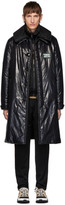 Burberry Black Down Car Coat