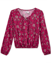 Epic Threads Girls' Floral-Print Peasant Top, Only at Macy's