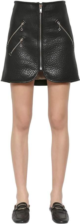 Etoile Isabel Marant Kari Embossed Leather Skirt