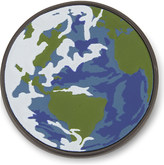 Coach Planet Earth leather pin badge