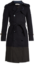 Golden Goose Deluxe Brand Double-breasted pinstriped trench coat