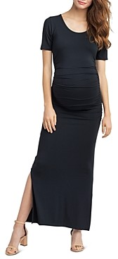Nom Maternity Hugo Ruched Maxi Dress