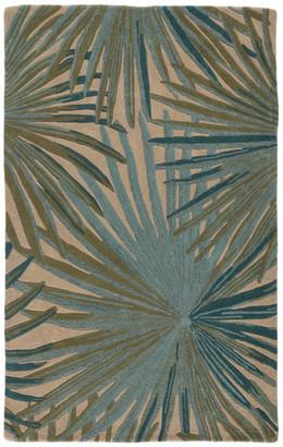 Jaipur Living Palmetto Handmade Floral Blue/Green Area Rug, 8'x11'