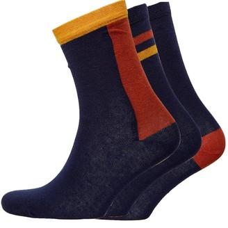 Jaeger Womens Three Pack Socks Inca Navy