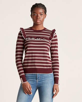Chee Cho Striped Ruffle Sweater