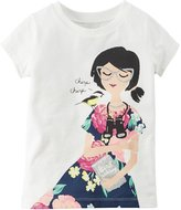 Carter's Baby Girl Girly Graphic Short Sleeve Tee