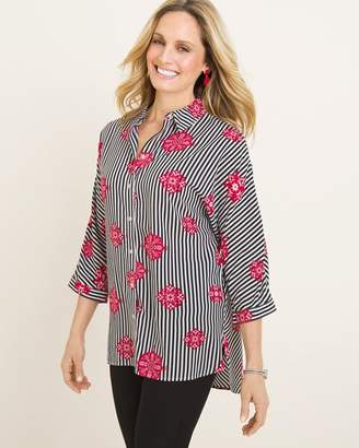 Chico's Chicos Medallion Striped Tunic