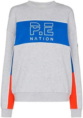 P.E Nation Sonic stripe jersey jumper