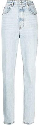 Alexander Wang High-Waisted Stripe-Trim Jeans