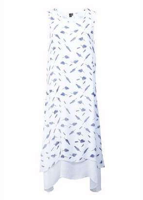 Dorothy Perkins Womens *Izabel London White Leaf Print Midi Shift Dress, White