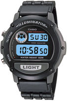 Casio Illuminator Mens Black Resin Strap Chronograph Sport Watch W87H-1VOS