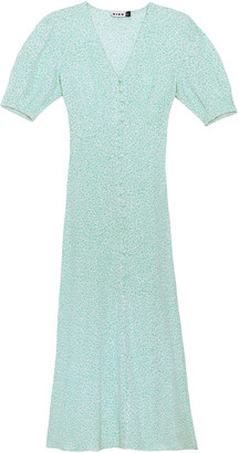 Rixo Staci Printed Silk Maxi Dress