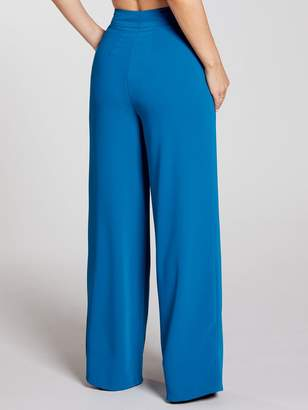 Soft Tailored Wide Leg Trousers Co-ord - Teal