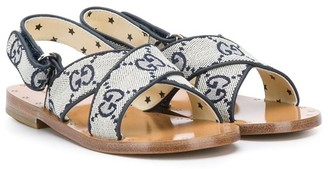 Gucci Kids GG pattern flat sandals