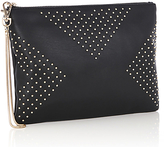 Oasis Sadie Studded Clutch Bag, Black