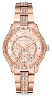 Michael Kors Runway Multifunction Rose Goldtone Stainless Steel Watch