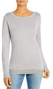 Sioni Embellished-Hem Boatneck Sweater