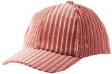 Charlotte Russe Ribbed Velvet Baseball Hat