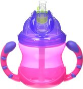 Nuby 2 Handle Straw Cup - Girl - 8 oz