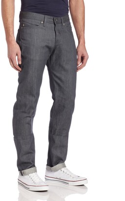 Naked & Famous Denim Men's Weird Guy Low Rise Tapered Leg Jean in Grey Selvedge 28x35