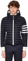 Thom Browne Hooded Down Filled Ski Jacket W/ Stripes