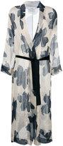 Forte Forte floral print coat - women - Silk/Linen/Flax - 2