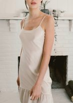 Flannel Silk Slip With Frill Blush