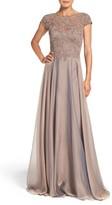 La Femme Women's Embellished Lace & Satin Ballgown