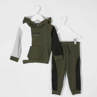 River Island Mini boys Khaki 'Exclusive' printed outfit