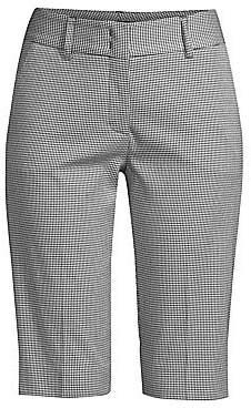 Piazza Sempione Women's Checked Stretch Cotton Bermuda Shorts