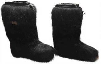 Prada Black Faux fur Boots