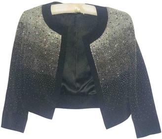 Issa Black Silk Jackets